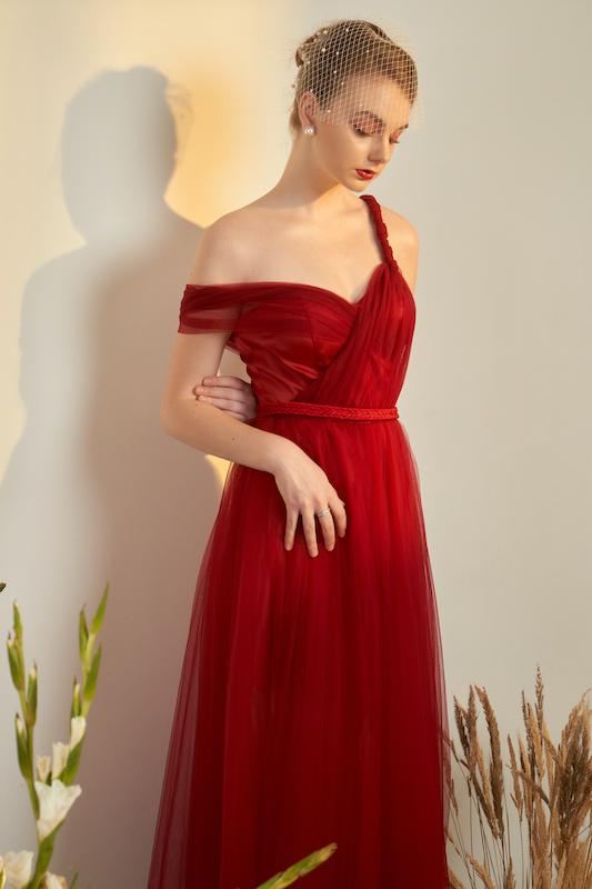 Burgundy Dress 2