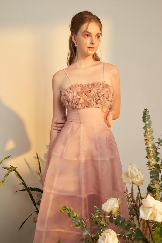 Christian Rose Pink Dress